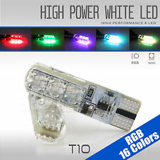 2X T10 921 High Power RGB LED Multi-Color Parking Interior Light Bulbs+Remote