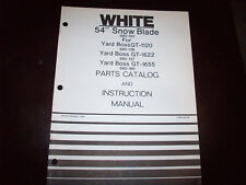 """White 54"""" Snow Blade Operator's Manual for GT-1120 1622 1655 Lawn Tractor"""