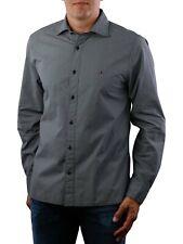 Tommy Hilfiger Mens Cotton Grey Printed Long Sleeves Casual Shirt S M L XL 2XL