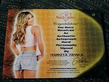 PLABOY BENCHWARMER MARKETA JANSKA  HAPPY THANKSGIVING AUTOGRAPH CARD