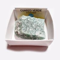 Cuarzo Verde Piedra En Bruto Cristal Natural En Cajita De colección 6x6 cm