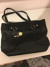 Women's Genuine Tommy Hilfiger Double compartment Black Tote Handbag
