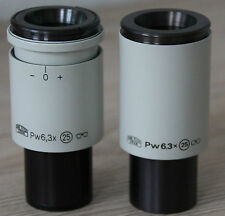 Zeiss MICROSCOPIO Microscope oculari PW Occhiali 6,3x/25 - diametro 30mm