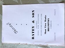 A2e ephemera advert undated batey & son brampton