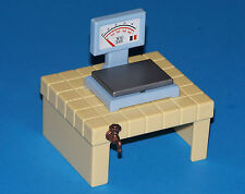 Vintage 1994 Playmobil ZOO 3634 Weight Scale, Table w/ faucet Counter Stand Part