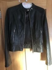 Diesel Leather Black Gold Collection Biker Jacket  - Size Small