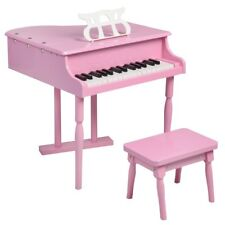 30 Key Pink Kid Childrens Mini Baby Grand Piano w/ Bench Seat Chair Music Holder