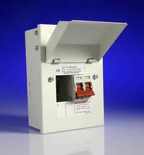 Wylex NMRS206/63 Amendment 3 2 Way 4 Module Metal Clad Consumer Unit Garage 63A