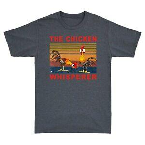 Hei Hei The Chicken Whisperer Retro Men's T-Shirt Graphic Gift Short Sleeve Tee