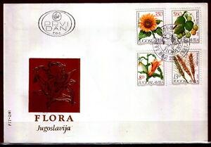 1889 - Yugoslavia 1981- Flora - Sunflower - Corn - Wheat - Hops - FDC