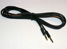 Slim 3.5mm Mini Stereo Jack Plug to Plug Slim Black flexible cable 2m
