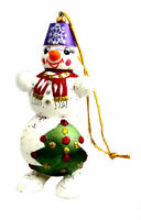 Boule de Noel en bois peint - Fabrication Artisanale Russie -Décoration de Noël