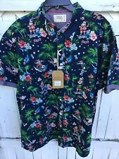 Men's Free Planet Short Sleeve Hawaiian Santa Shirt Size 3XL New With Tags