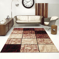 NEW BEAUTIFUL Classic RUG TOP DESIGN LIVING ROOM! STONE PATTERN CARO BEIGE