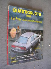 QUATTRORUOTE # 432 - OTTOBRE 1991 - FIAT CINQUECENTO E SEAT TOLEDO -QUASI OTTIMO