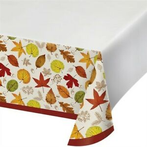 Happy Harvest Plastic Banquet Tablecloth Fall Autumn Thanksgiving Party Decor