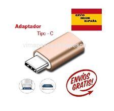 Adaptador de micro USB a USB tipo C Dorado. Micro USB-C Metálico
