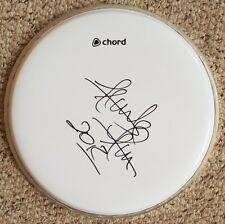 "Frank Ferrer 'Guns N Roses', hand signed in person 10"" drum skin."