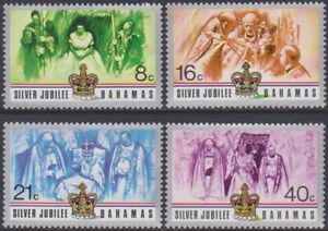 SET Bahamas 1977 QEII Silver Jubilee 8c-40c MNG Stamps SG488/491