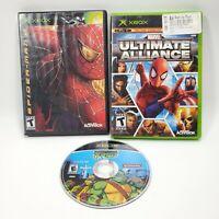 Xbox Spider-Man 2 Marvel Ultimate Alliance Teenage Mutant Ninja Turtles Lot