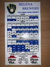 New listing 1990 HELENA BREWERS MINOR LEAGUE BASEBALL SCHEDULE MAGNET PIZZA HUT