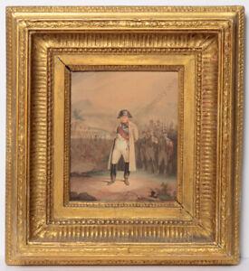 """Hippolyte Bellange-Attrib.""""Napoleon at Somosierra (30th Nov1808)"""" watercolor"""