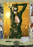 Catwoman Anne Hathaway Cat TDKR Sexy 'Sunset City' Comic Series Signed Art Print