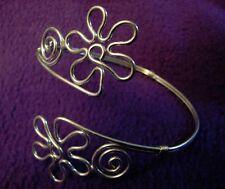 Upper Arm ARMLET Flower Hippie Costume Adjustable Belly Dancer BRACELET Jewelry
