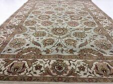 6 x 9 Mahal Persian Oriental Rug Hand Knotted Room Size Light Blue Wool Carpet