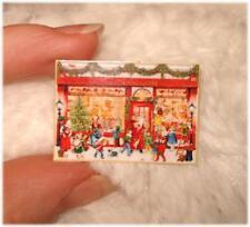 AUSVERKAUF * Tolles Miniaturen Schild / Bild / Poster 1:12 * Weihnachtsladen *