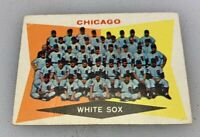 1960 Topps # 208 Chicago White Sox Team Checklist Baseball Card