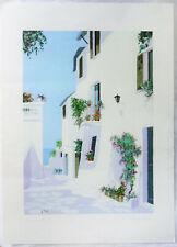 GIORGIO ZUPPINI VICOLO A MARE TITEL UND SIGNIERT: Ort am Meer Kunstdruck Italien