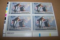 1990 US Federal Migratory Waterfowl Duck Stamp RW57 MNH.OG Plate Block of Four