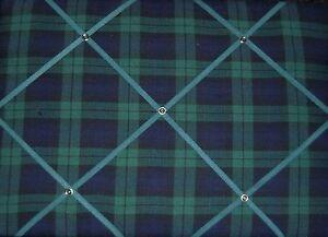 Black Watch/Green Hunting Tartan fabric covered, Memo/message/pin/notice  Board
