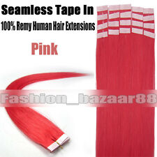 100% Remy Human Hair Extensions Seamless Tape In Skin Weft Hair 16-24Inch 20Pcs
