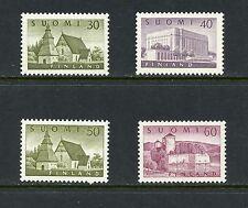 Finland 1956/7  buildings church parliament fortress   4v.  MVLH  I994