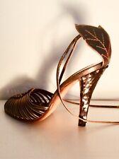 Vintage Andrea Pfister Sequin Heels Wraparound Ankle Tie