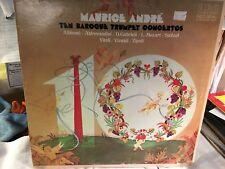 MAURICE ANDRE : TEN BAROQUE TRUMPET CONCERTOS : 2 LP Bifold set