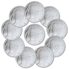 2017 Highland Mint 1 oz Silver American Indian Buffalo Round -Lot of 10 SKU45377
