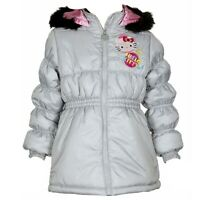 Hello Kitty Infant/Toddler Girl's HK031 Puffer Hooded Grey Winter Jacket Sz. 2T