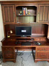Desk with hutch. Chest of matching drawers.
