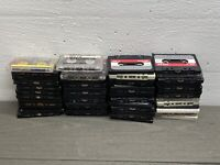 Lot Of 50 Pre-recorded Cassette Tapes Use As Blanks Sony Scotch Diplomat Certron