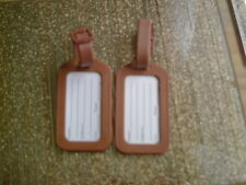 LUGGAGE TAGS BROWN