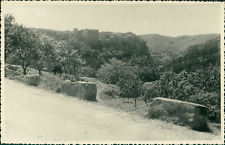 Espagne, Village sur la route de Saragosse (Zaragoza)  Vintage silver print. Spa