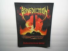 BENEDICTION SUBCONSCIOUS TERROR SUBLIMATED BACK PATCH