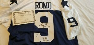 Signed Tony Romo Dallas Cowboys Jersey with Certificate of Authenticity