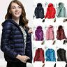 Women's Packable Down Jacket Ultralight Stand Collar Coat Winter Puffer Hoodie