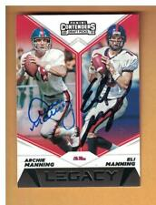 Eli & Archie Manning AUTOGRAPHED 2019 PANINI CONTENDERS FOOTBALL CARD SIGNED