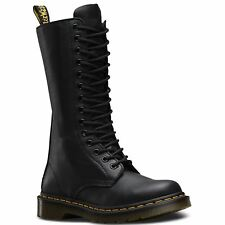 Dr.Martens 1B99 Virginia Black Womens Leather Mid Calf Biker Boots