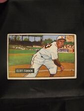 1951 BOWMAN CLIFF FANNIN #244 BASEBALL CARD - UNGRADED - EXC!